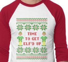 Get Elfd Up Buddy Elf Ugly Christmas Sweater Men's Baseball ¾ T-Shirt