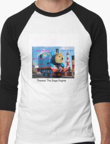 Thomas The Doge Engine Men's Baseball ¾ T-Shirt