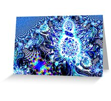 Flower Fractal Realm Greeting Card