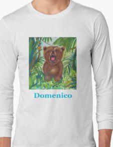 Domenico roaring bear Long Sleeve T-Shirt
