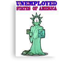 Unemployed States of America Canvas Print