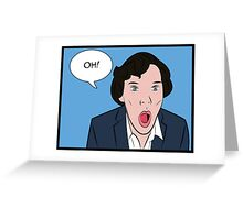 Sherlock Pop Art Greeting Card