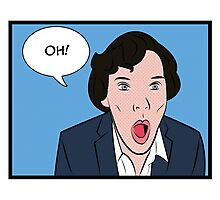 Sherlock Pop Art Photographic Print