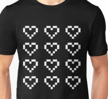 12 Pixel Hearts - White see-through Unisex T-Shirt