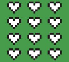 12 Pixel Hearts - White by Autophobicat