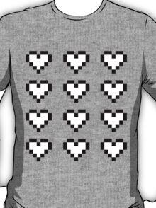 12 Pixel Hearts - White T-Shirt