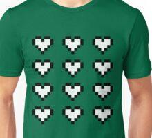 12 Pixel Hearts - White Unisex T-Shirt