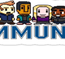 Community 8-bit World Sticker