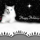 Happy Holidays w/Delain - greeting card by Scott Mitchell
