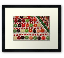 Holiday Candy Framed Print