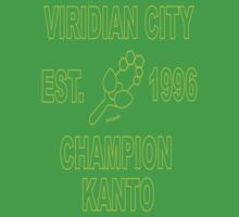Viridian City Champion: Pokemon Kanto One Piece - Short Sleeve