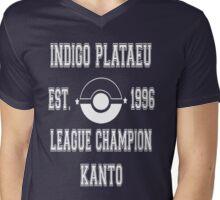 Indigo Plateau League Champion: Pokemon Kanto  Mens V-Neck T-Shirt