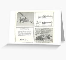 Bell Military Helicopters Greeting Card