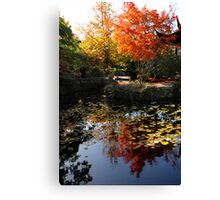 Chinese Garden in Autumn: Vancouver Canvas Print