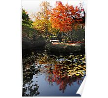 Chinese Garden in Autumn: Vancouver Poster