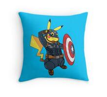 Captain Americhu Throw Pillow