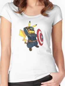 Captain Americhu Women's Fitted Scoop T-Shirt
