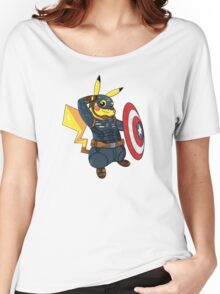 Captain Americhu Women's Relaxed Fit T-Shirt