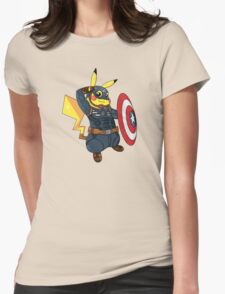 Captain Americhu Womens Fitted T-Shirt