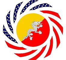 Bhutanese American Multinational Patriot Flag Series Photographic Print