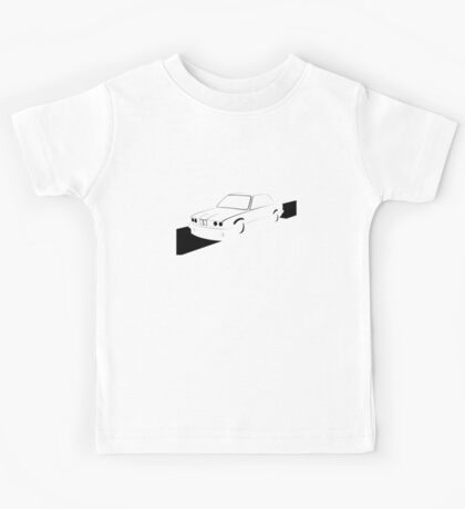 E30 Retro - Black Print Kids Tee