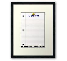 To Do List Framed Print