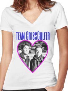 TEAM CRISSCOLFER Women's Fitted V-Neck T-Shirt