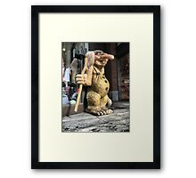 Bergen Harbour (5) -  Am I Not Beautiful ? Framed Print