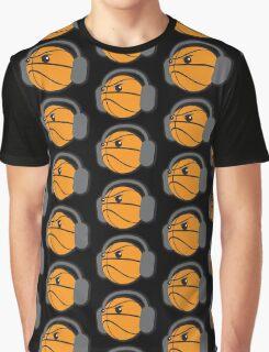 CRAZY headphones BASKETBALL Graphic T-Shirt