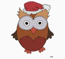 Christmas Owl One Piece - Short Sleeve