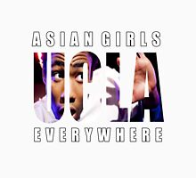 Asian Girls Everywhere (White Letters) Unisex T-Shirt