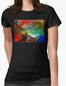Heaven and Hell. Womens Fitted T-Shirt