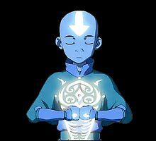 Aang's Avatar State with Raava by Grinalass