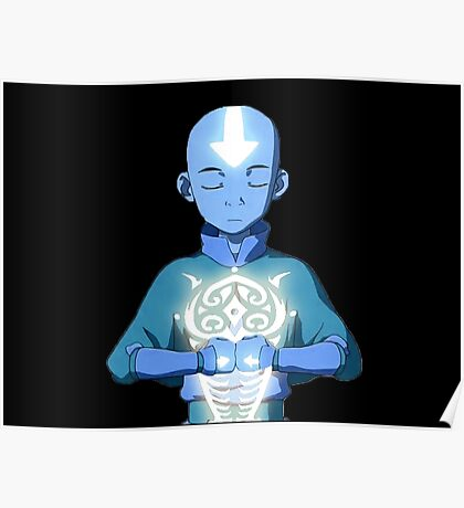 Aang's Avatar State with Raava Poster