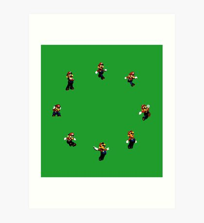 Super Mario 64 Jumps Art Print