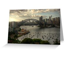 Sydney Harbour Morning - The HDR Experience Greeting Card