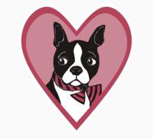 Boston Terrier Love Art One Piece - Short Sleeve