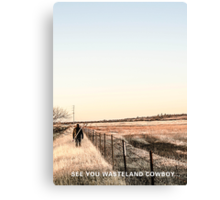 Invisible Friends Back Cover Canvas Print