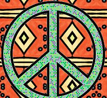 Peace Sign Design Pattern #3 by iArt Designs