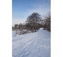 A Pale Blue Snowday  Photographic Print