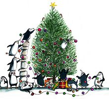 Twelve penguins of Christmas by LucindaG