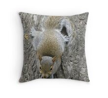 Ninja Baby Squirrel Throw Pillow