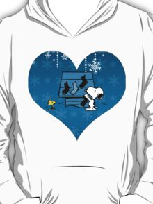 Snoopy Blue Holiday  T-Shirt