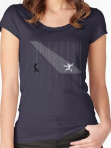 The Matrix - Minimal T-Shirt (No Title) Women's Fitted Scoop T-Shirt