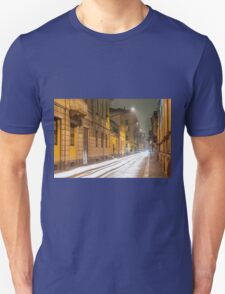 Street with light trails Unisex T-Shirt