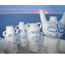 sunset vessel Photographic Print