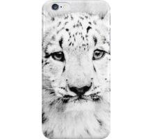 Snow leopard cub iPhone Case/Skin