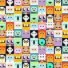 Adventure Time 8-bit Sprite Faces by d13design