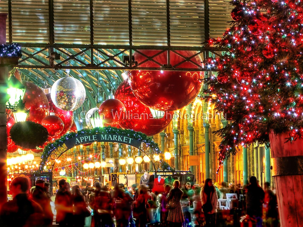 Christmas At Covent Garden - HDR by Colin  Williams Photography