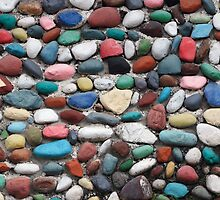 Painted Rock Wall by rhamm